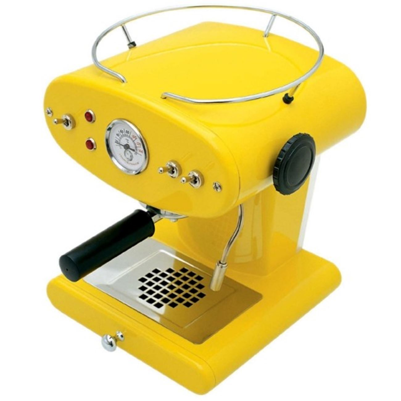 yellow espresso machine