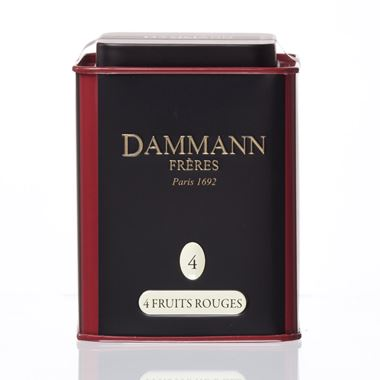 4 FRUITS ROUGES - BLACK FLAVOURED TEA DAMMANN TIN 100gr. / 18-20-2011 < Flavored black tea