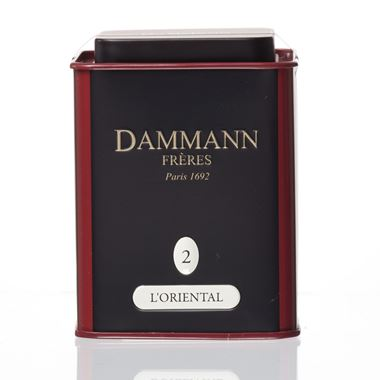 L' ORIENTAL - LOOSE GREEN TEA DAMMANN TIN 100gr / 18-20-2005 < Flavored green tea