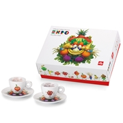 ΣΕΤ ΔΩΡΟΥ ILLY MASCOT EXPO 2 ESPRESSO CUPS-ORANGE APPLE / 02-02-2011 < Συλλογές Φλιτζανιών