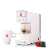 OFFER - ILLY IPERESPRESSO Y3.2 E+C WHITE +56 CAPS + 2 freddo glasses / 71-02-9725 < Espresso capsules machines