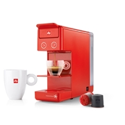 OFFER - ILLY IPERESPRESSO Y3.2 E+C RED + 6 HEART MAROCCINO GLASSES / 70-02-9726 < Espresso capsules machines