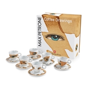 GIFT SET  MAX PETRONE  6 CAPPUCCINO CUPS / 02-02-6041 < Collection Cups