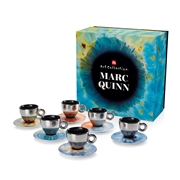 GIFT SET MARC QUINN 6 CAPPUCCINO CUPS  / 02-02-6046 < Collection Cups