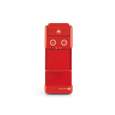ILLY IPERESPRESSO Y3.2 E+C RED + 2 ESPESSO CUPS M. GALIMBERTI + DISPENSER / 71-02-9726 < Μηχανή εσπρέσσο για κάψουλες illy iperespresso