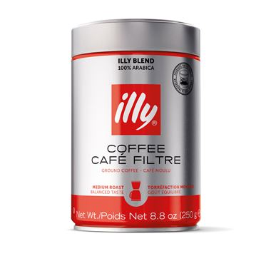 ILLY GROUND FILTER COFFEE 250gr / 01-02-0011 < Filter Coffee