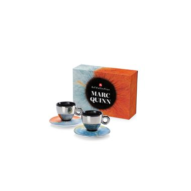 GIF SET MARC QUINN 2 CAPPUCCINO  CUPS  / 02-02-6048 < Collection Cups